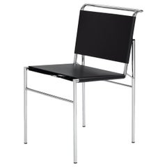 ClassiCon Roquebrune Chair in Black with Chrome Legs by Eileen Gray