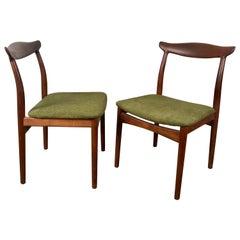 Stunning Pair of Sculptural Side Chairs, Arne Vodder for Vamo Sonderborg Pv