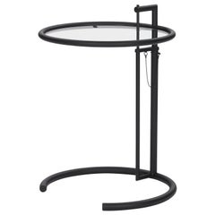 ClassiCon Adjustable Table E 1027 in Black and Crystal by Eileen Gray