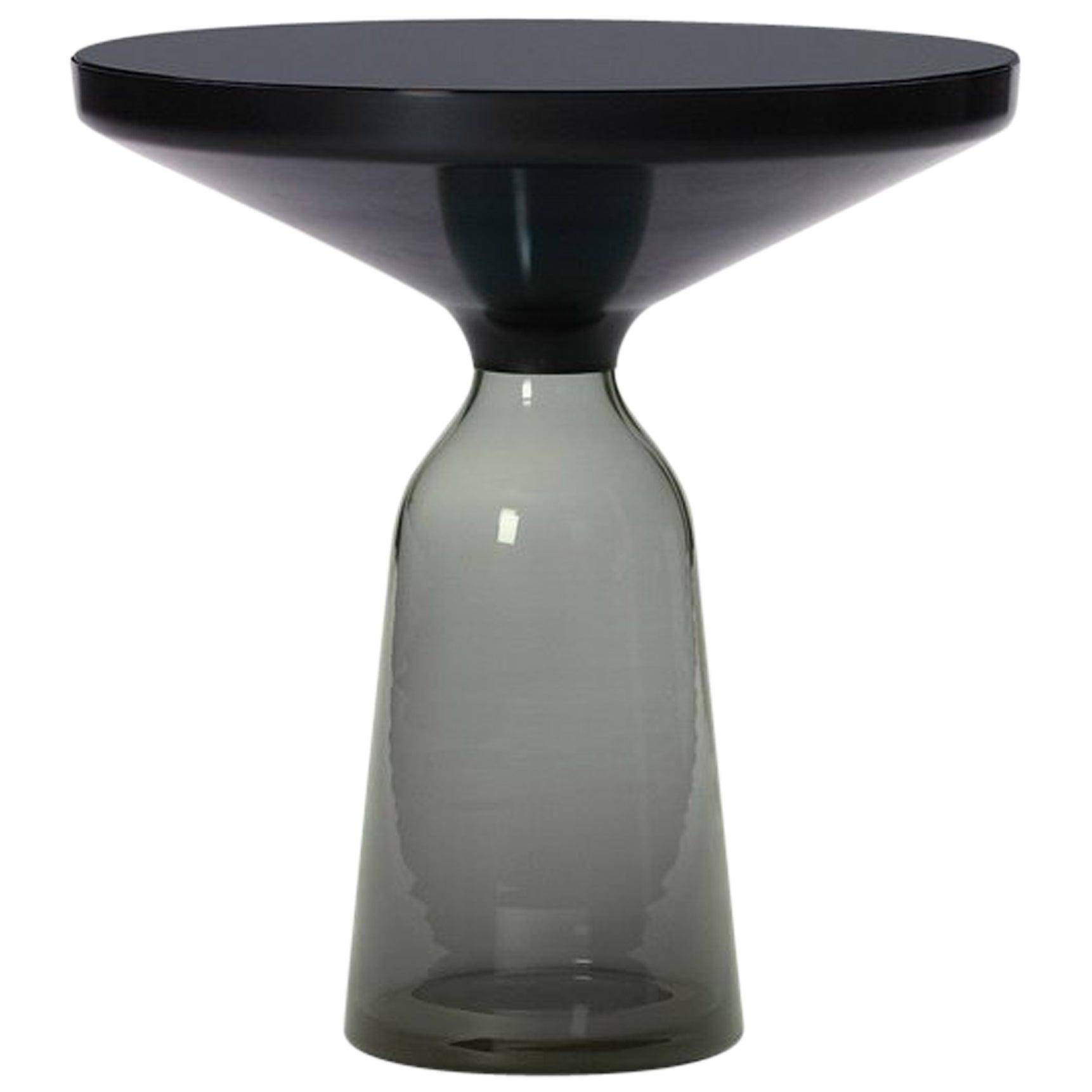 ClassiCon Bell Side Table in Black and Quartz Grey by Sebastian Herkner
