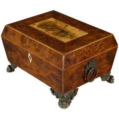 Victorian Burr Yew Jewelry Box