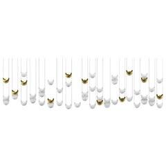 "Contemporary ""Light Skin Mural Jewel"" Chandelier in Handmade Limoges Porcelain"