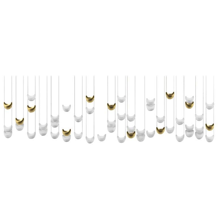 "Contemporary ""Light Skin Mural Jewel"" Chandelier in Handmade Limoges Porcelain For Sale"