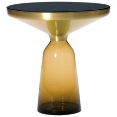 ClassiCon Bell Side Table in Brass and Amber Orange by Sebastian Herkner