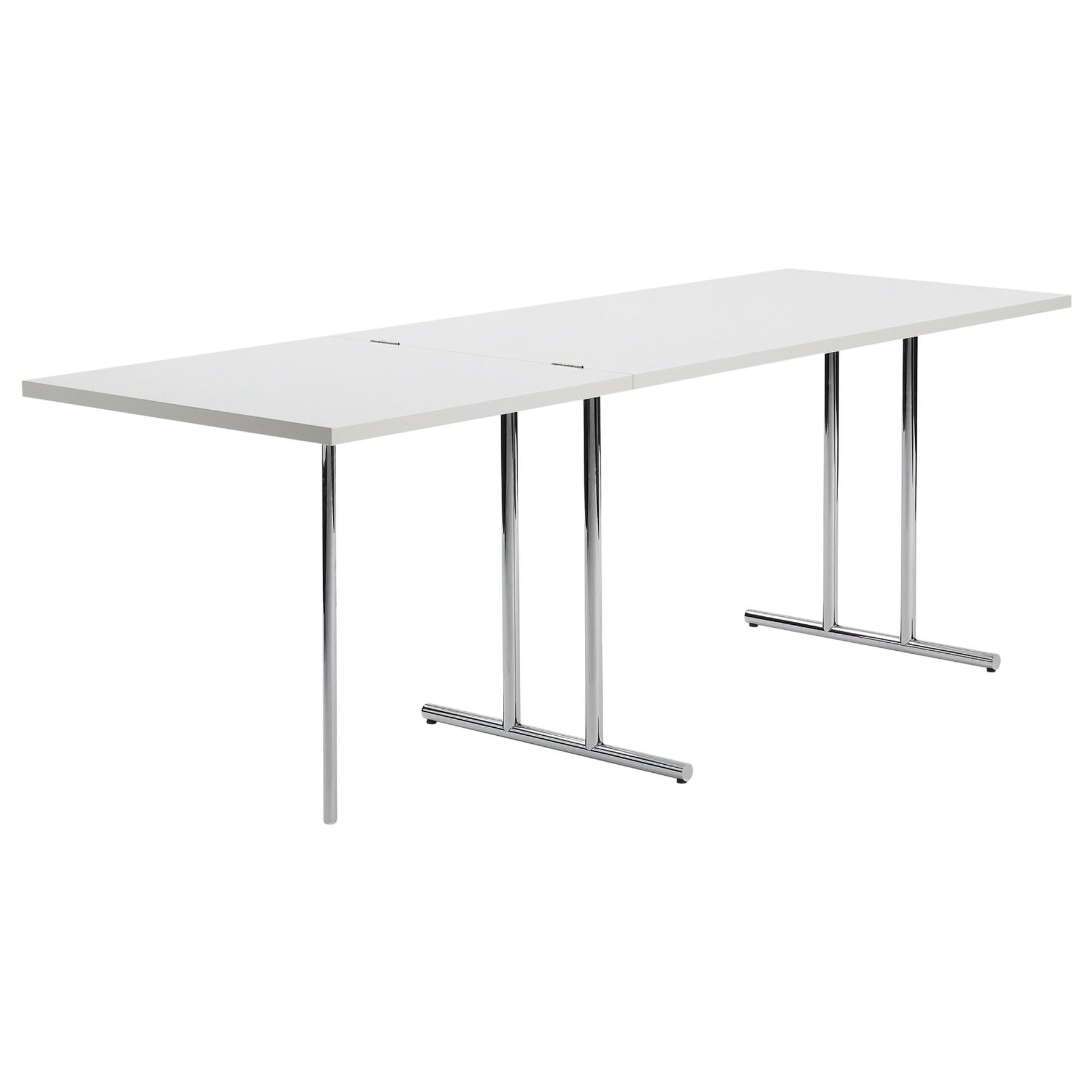 ClassiCon Lou Perou Table in White and Chrome by Eileen Gray