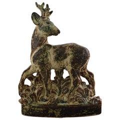 Knud Kyhn for Royal Copenhagen, Very Large Stoneware Figure, Standing Deer