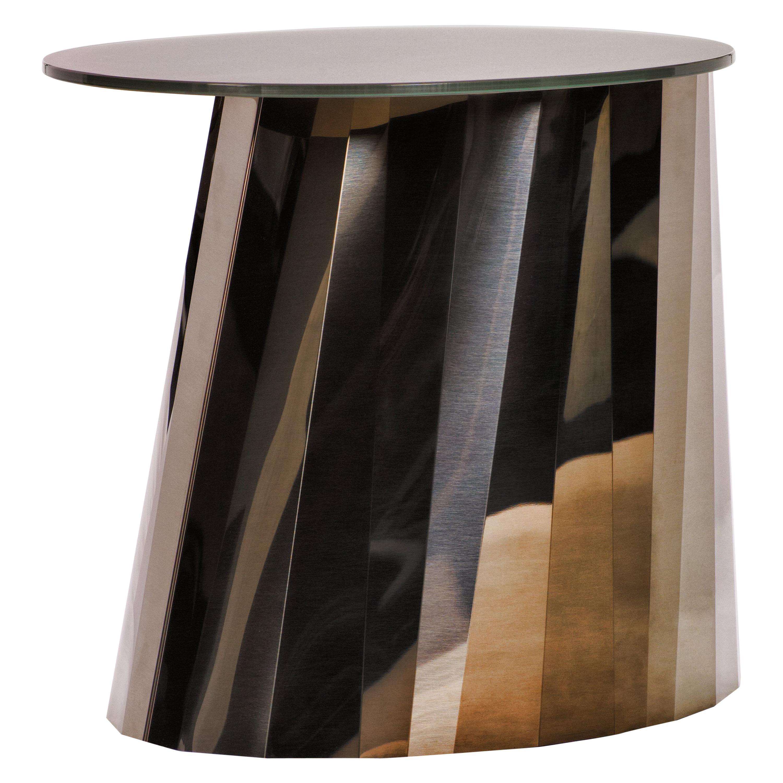 ClassiCon Pli Low Side Table in Bronze by Victoria Wilmotte
