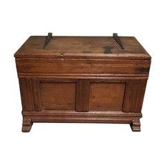 19th Century Dutch Oak Blanket Chest, Children's Bench or Treasure Chest
