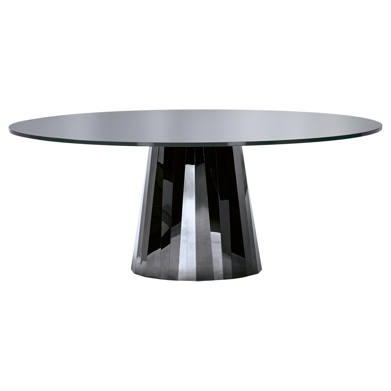 ClassiCon Pli Table in Black with Lacquer Top by Victoria Wilmotte