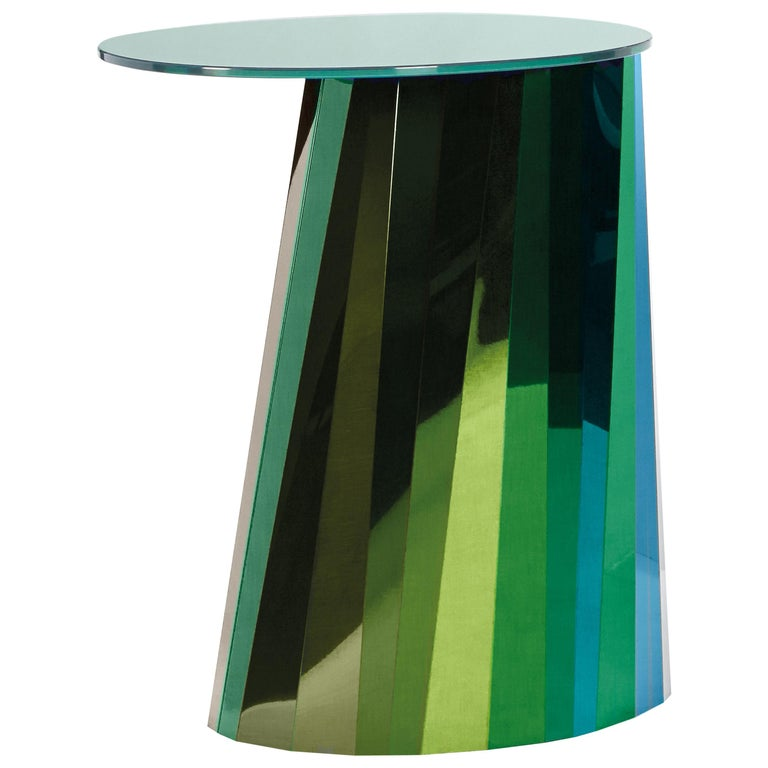 ClassiCon Pli High Side Table in Green by Victoria Wilmotte For Sale