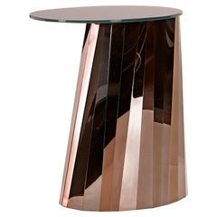 ClassiCon Pli High Side Table in Bronze by Victoria Wilmotte
