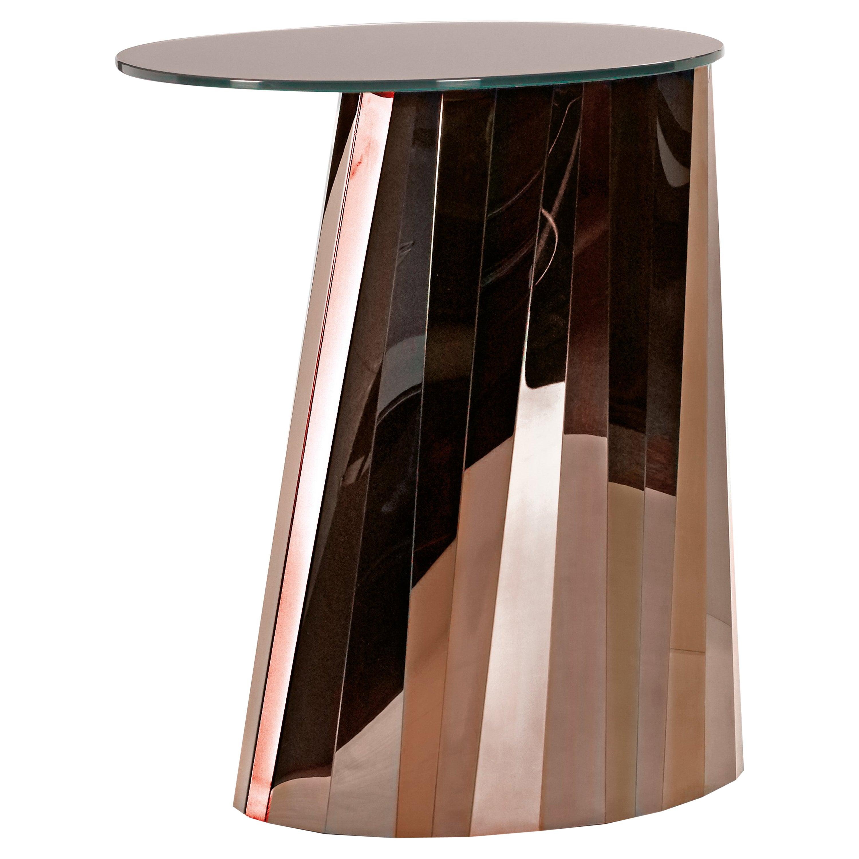 ClassiCon Pli High Side Table in Bronze by Victoria Wilmotte