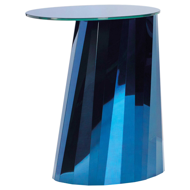 ClassiCon Pli High Side Table in Blue by Victoria Wilmotte