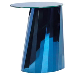 ClassiCon Pli High Side Table in Blue by Victoria Wilmotte
