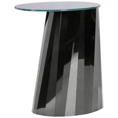 ClassiCon Pli High Side Table in Black by Victoria Wilmotte