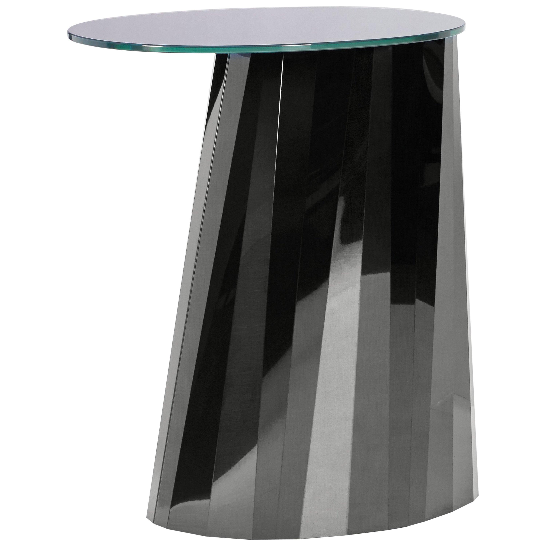 ClassiCon Pli High Side Table in Black by Victoria Wilmotte