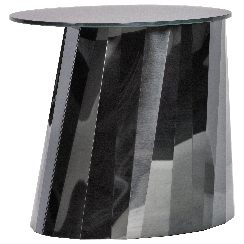 ClassiCon Pli Low Side Table in Black by Victoria Wilmotte