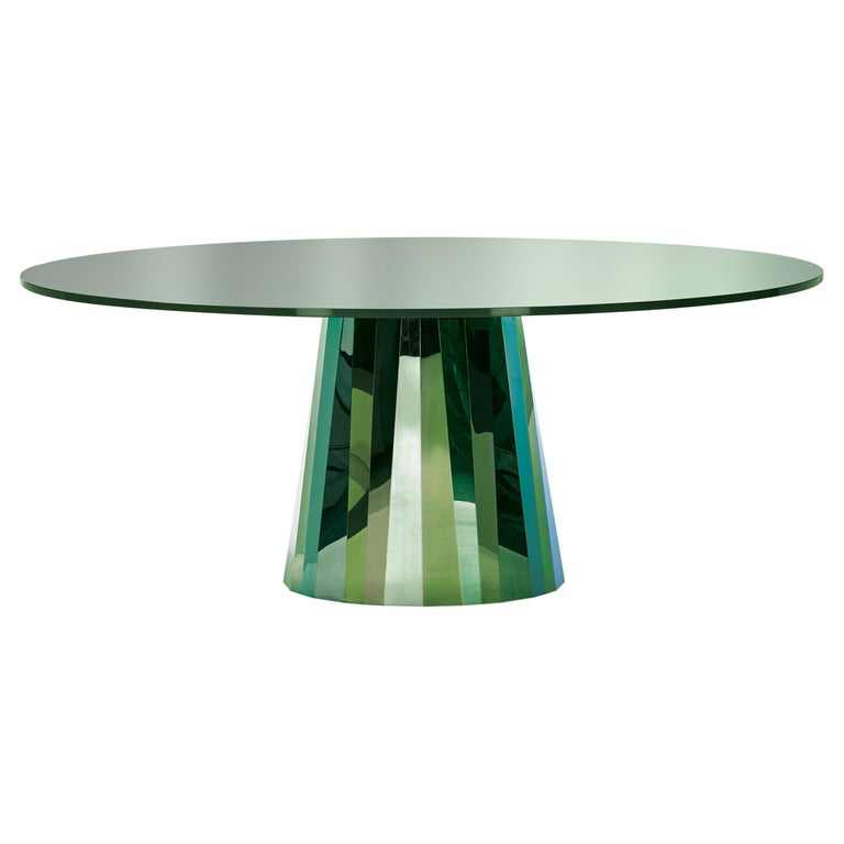 ClassiCon Pli Table in Green with Lacquer Top by Victoria Wilmotte For Sale