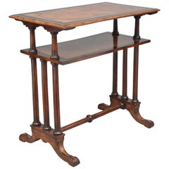 19th Century Burr Walnut Two-Tier Occasional Table