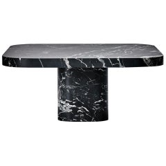ClassiCon Bow Coffee Table No. 3 in Nero Marquina Marble by Guilherme Torres