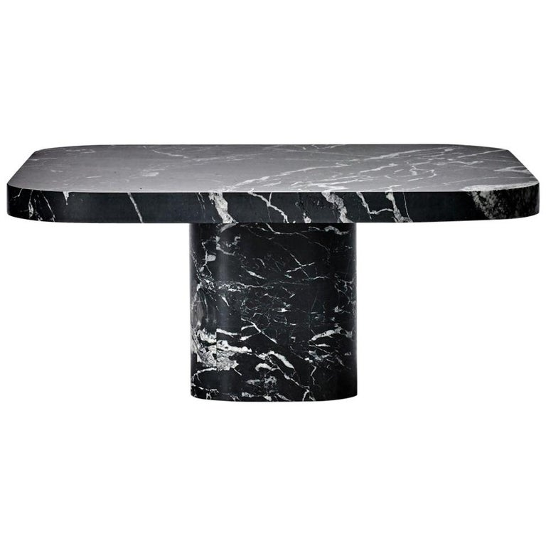 ClassiCon Bow Coffee Table No. 3 in Nero Marquina Marble by Guilherme Torres For Sale