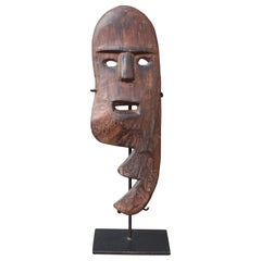 Sculpted Wooden Traditional Mask from Timor, Indonesia, circa 1960s-1970s