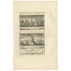 Antique Print of the Holy Sacrament by Picart, circa 1725