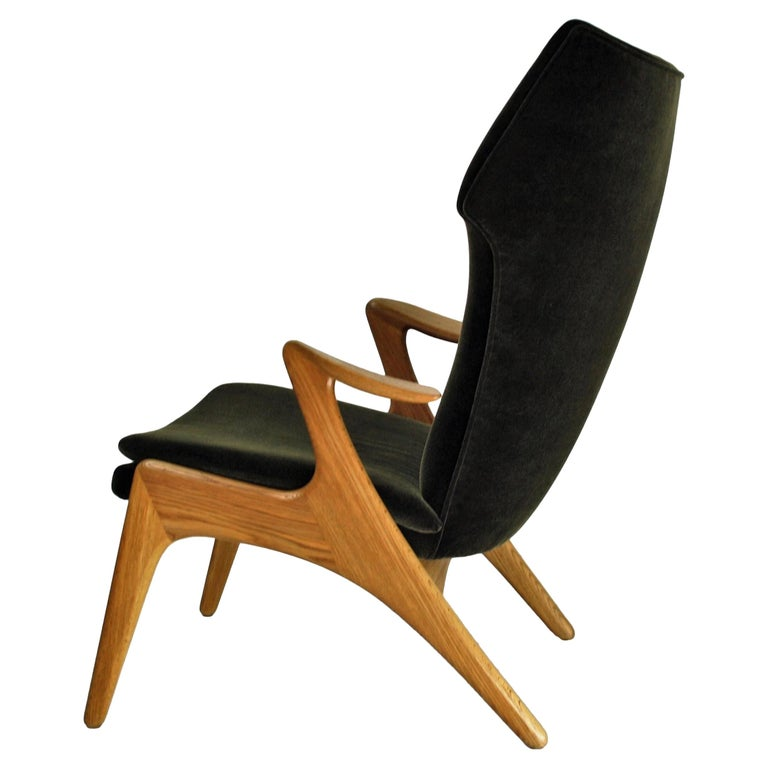 Kurt Ostervig High Back Lounge Chair, 1960s For Sale