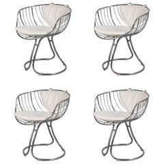 "Set of 4 ""Pan Am"" Armchairs, 1960, USA"