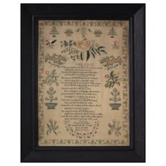 Antique Sampler, 1838, by Maryann Sanders