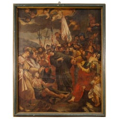 17th Century Oil on Canvas Italian Religious Painting, 1680