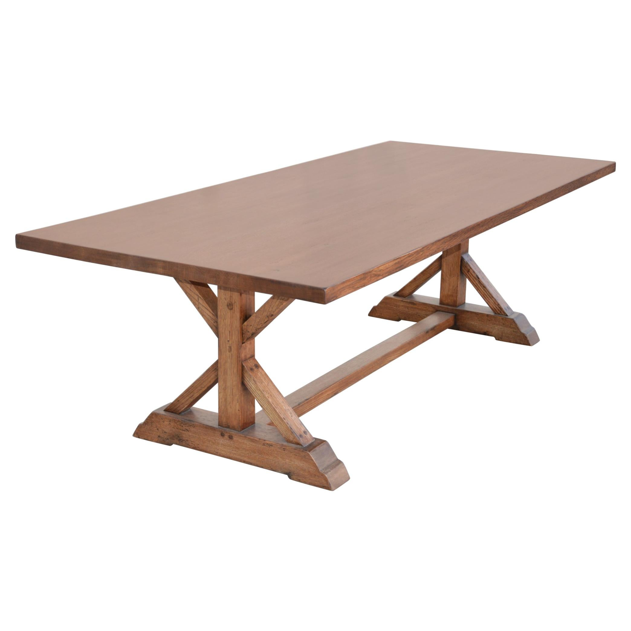 Custom Farm Table in Vintage White Oak