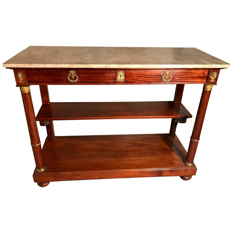 Empire Console Table, France, 19th Century For Sale