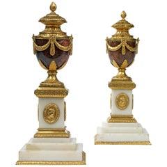 Pair of Matthew Boulton Cleopatra Candle Vases