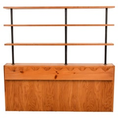 Rare Jean Royère Headboard with Shelving