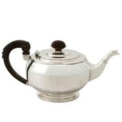 Antique Art Deco English Sterling Silver Teapot