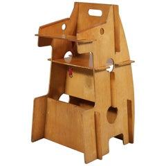 Convertible Children's High Chair, Desk and Rocker Combined, Netherlands, 1950
