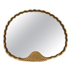 André Groult, Shell Mirror in Bronze Frame, circa 1922