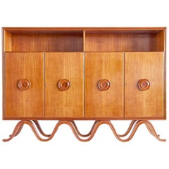 Francesco Bisacco Cabinet in Cherrywood, Turin, Italy, 1940s