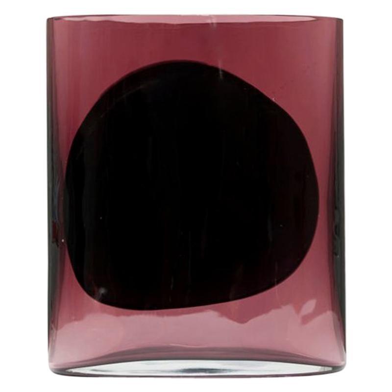 "Julie Richoz Amethyst Blown Glass Vase Model ""Isla"" Mexican Contemporary Design"