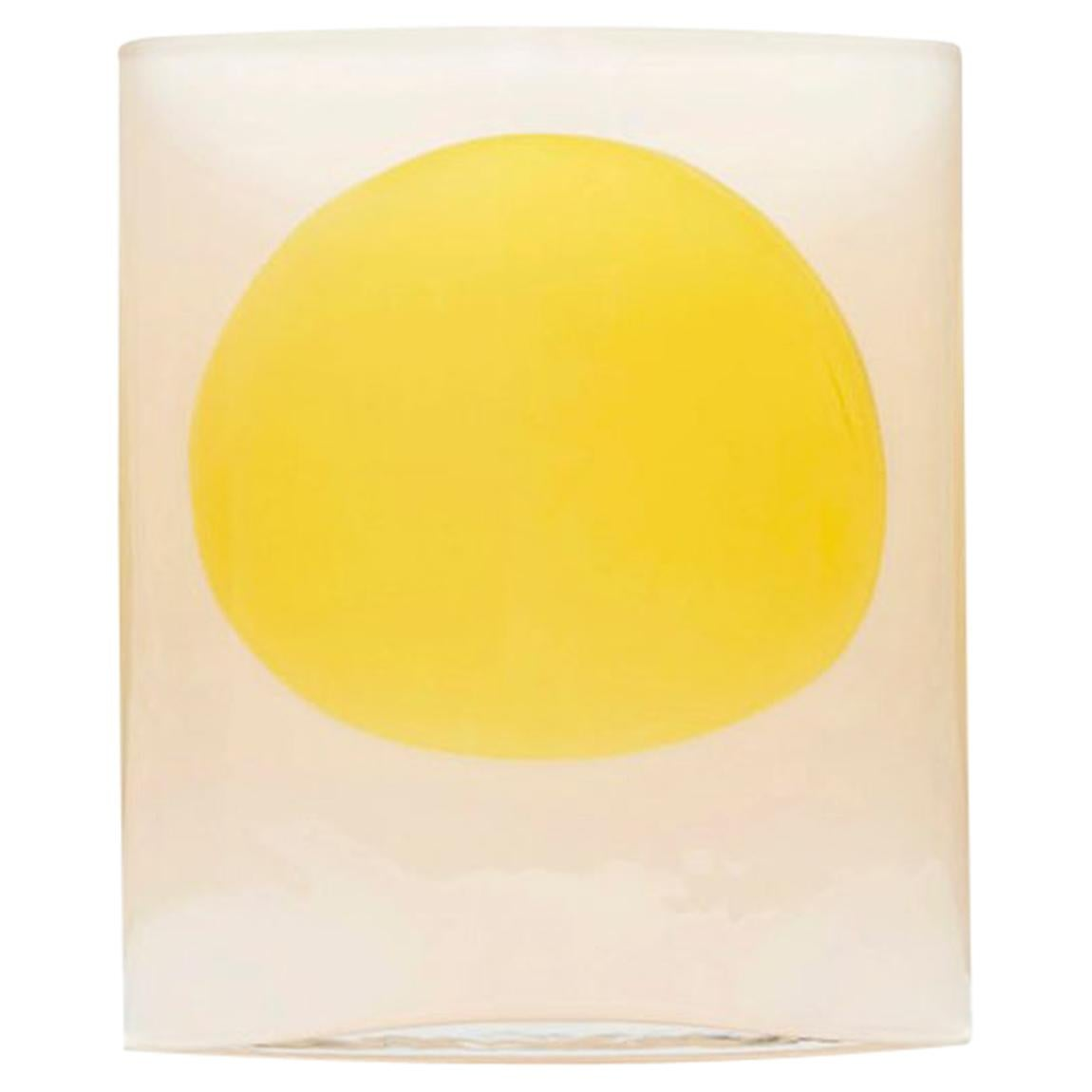 "Julie Richoz Yellow and cream Vase model ""Isla"" Mexico 2019 Hand Blown Glass"