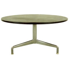 Round Slate Couch or Sofa Table with Aluminium Tripod Base