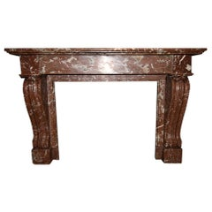 Antique Marble Fireplace, 19th Century