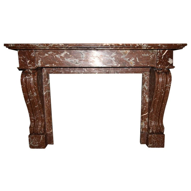 Antique Marble Fireplace, 19th Century For Sale
