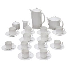German White Porcelain Tea and Coffee Set by Rosenthal Group 28 Pieces