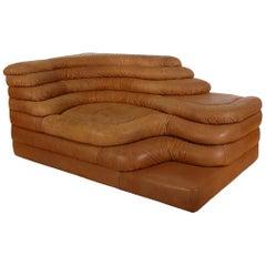 Mid-Century Modern Leather Chaise/Terazza Sofa by Ubald Klug for De Sede