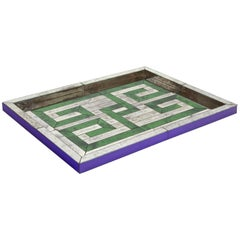 Serge Roche, Large Tray Made of Mirror-Glass Plates, circa 1930
