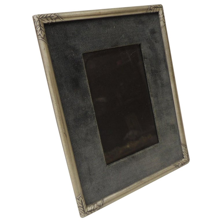 Vintage Pewter Picture Frame For Sale
