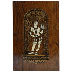 Inlaid Panel Decor of an Indian Goddess, Anglo-Indian Work 1920s-1930s