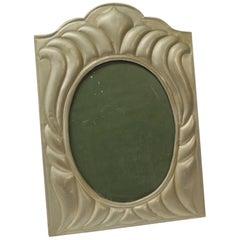 Large Vintage Tin Sheet Metal Picture Frame